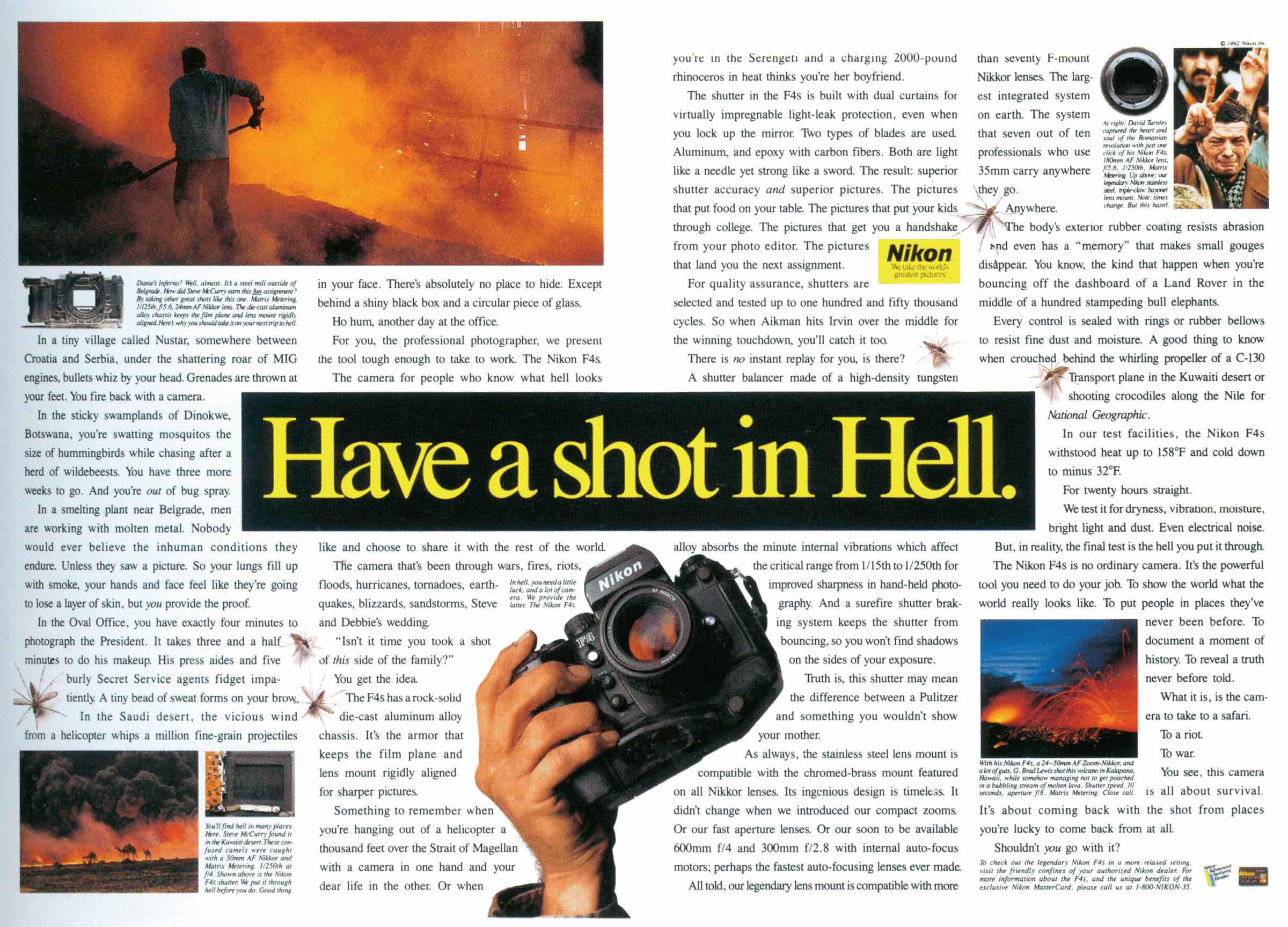 Nikon F4 advertisement 1993